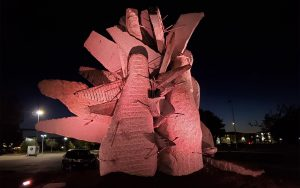 The Northern Rose Rock Sculpture